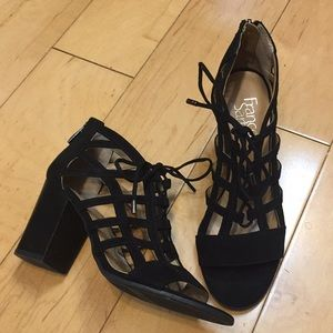 Franco Sarto black sandals shoes 7.5
